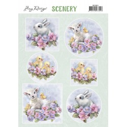 (CDS10021)Push Out Scenery - Amy Design - Spring Animals