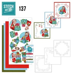 (STDO137)Stitch and Do 137 - Yvonne Creations - Big Guys - Christmas