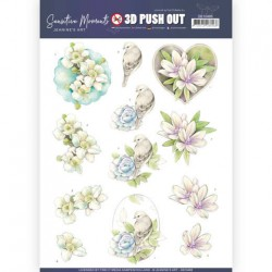 (SB10466)3D Push Out - Jeanine's Art - Sensitive Moments - Rose