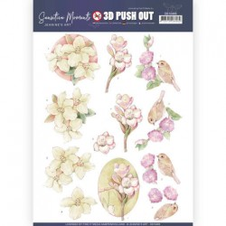 (SB10468)3D Push Out - Jeanine's Art - Sensitive Moments - Freesias