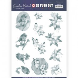 (SB10471)3D Push Out - Jeanine's Art - Sensitive Moments - Grey Lily
