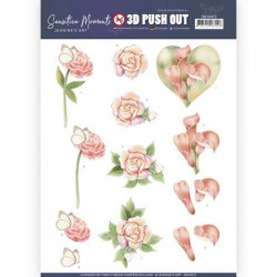 (SB10472)3D Push Out - Jeanine's Art - Sensitive Moments - Calla Lily