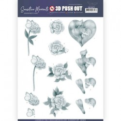 (SB10473)3D Push Out - Jeanine's Art - Sensitive Moments - Grey Calla Lily