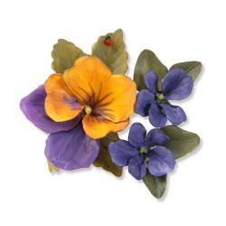 (658419)Thinlits Die Set 12PK - Flower, Pansy/Violet