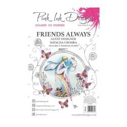 (PI063)Pink Ink Designs Clear stamp Friends always