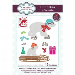 (CED3206)Creative Expressions • Paper cuts Craft dies Sue Wilson polar bear