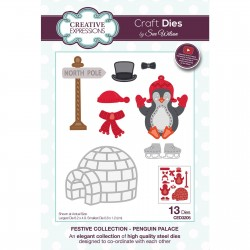 (CED3205)Creative Expressions • Paper cuts Craft dies Sue Wilson penguin palace