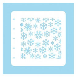 (COLST004)Nellies Choice Stencil Christmas Time -Snowflakes - for MSTS001