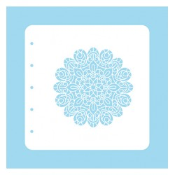 (COLST005)Nellies Choice Stencil Christmas Time -Mandala - for MSTS001