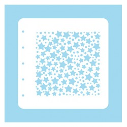 (COLST007)Nellies Choice Stencil Christmas Time -Stars and dots - for MSTS001