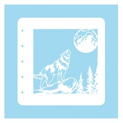 (COLST008)Nellies Choice Stencil Stencil Christmas Time -Wolf - for MSTS001