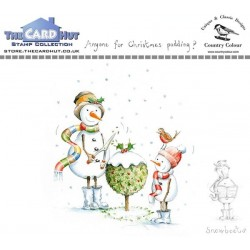 (CCSBCP)The Card Hut Snowboots: Anyone For Christmas Pudding Clear Stamps