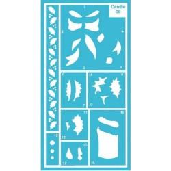 Pergamano stencil candle (33308)
