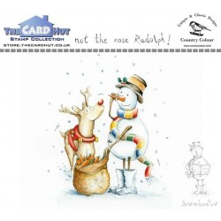 (CCSBNR)The Card Hut Snowboots: Not the Nose Rudolph Clear Stamps