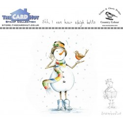 (CCSBSB)The Card Hut Snowboots: Shh, I Hear Sleigh Bells Clear Stamps
