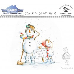 (CCSBSH)The Card Hut Snowboots: Santa Stop Here Clear Stamps