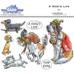 (MBPADL)The Card Hut A Dog's Life Clear Stamps
