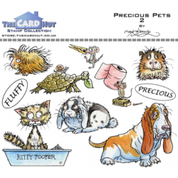 (MBPPP)The Card Hut Precious Pets 2 Clear Stamps