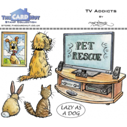 (MBPTA)The Card Hut TV Addicts Clear Stamps