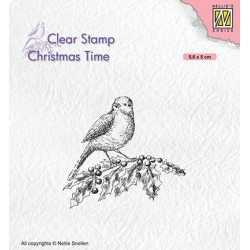 (CT032)Nellie's Choice Clear stamps Christmas Times Bird on hobbybranch