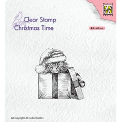 (CT033)Nellie's Choice Clear stamps Christmas Times Christmas surprise