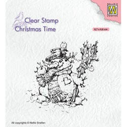 (CT034)Nellie's Choice Clear stamps Christmas Times Snowman