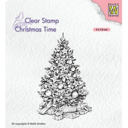 (CT035)Nellie's Choice Clear stamps Christmas Times Christmas tree