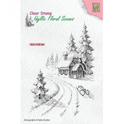 (IFS023)Nellie`s Choice Clearstamp - Wintery house