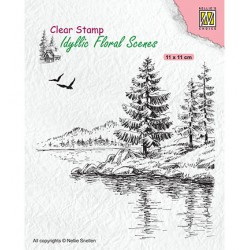 (IFS025)Nellie`s Choice Clearstamp - Wintery water's edge