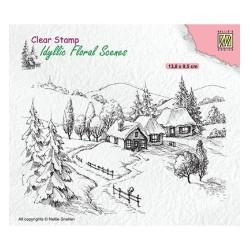 (IFS026)Nellie`s Choice Clearstamp - Idyllic wintery scene
