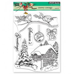 (30-515)Penny Black Stamp clear Sets Snowy Cottage