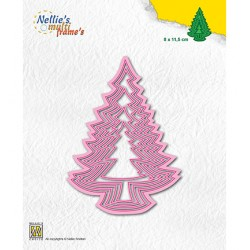 (MFD136)Nellie's Multi frame Block Die Christmas trees-3