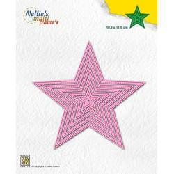 (MFD137)Nellie's Multi frame Block Die 5-point stars