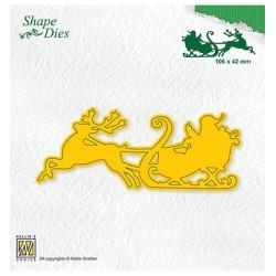 (SD181)Nellie's Shape Dies Santa in sledge