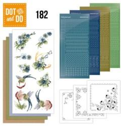 (DODO182)Dot and Do 182 - Precious Marieke - Blue Flowers