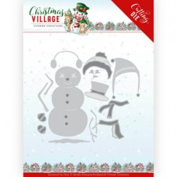 (YCD10208)Dies - Yvonne Creations - Christmas Village - Build Up Snowman