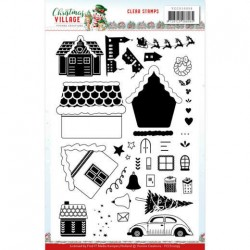 (YCCS10059)Clear Stamps - Yvonne Creations - Christmas Village