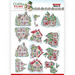 (SB10474)3D Push Out - Yvonne Creations - Christmas Village - Christmas Houses
