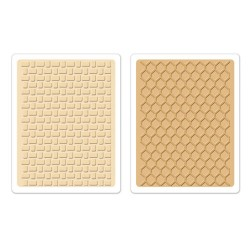 (658455)Embossing folders Basket Weave & Honeycomb