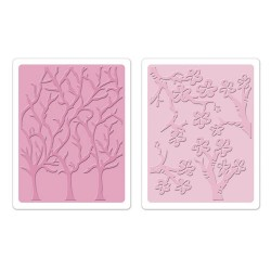(658429)Embossing folders TH Cherry Blossoms & Trees