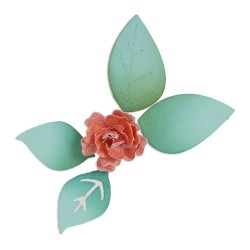 (658501)Sizzlits Die - Flower, Bloom w/Leaves 3-D