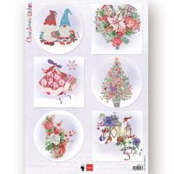 (EWK1279)3D Christmas Wishes gnomes