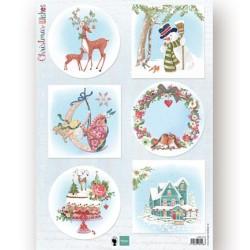 (EWK1280)3D Christmas Wishes deer