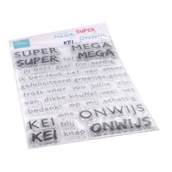 (CS1066)Clear stamp SUPER-MEGA-KEI-ONWIJS