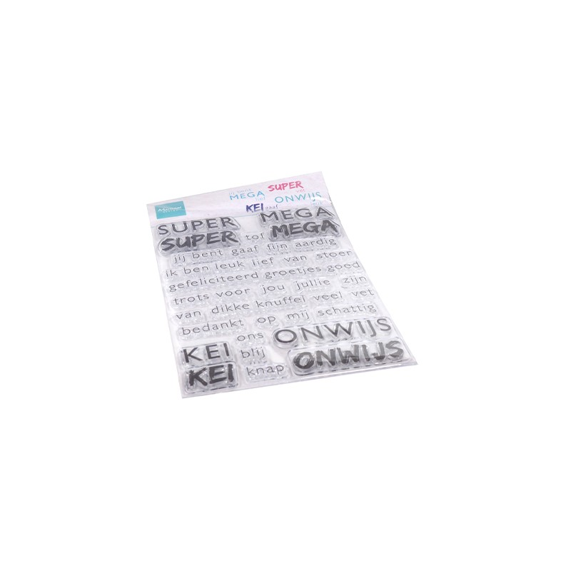 (CS1066)Clear stamp SUPER-MEGA-KEI-ONWIJS