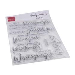 (CS1067)Clear stamp Handgeschreven - Kerst