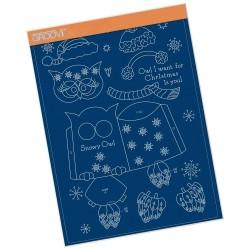 (GRO-CH-41572-16)Groovi plate A4 - LINDA'S SNOWY OWL
