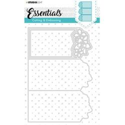 (STENCILSL299)Studio Light Cutting and Embossing Die, Card Shape Essentials, nr.299