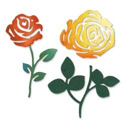 (658508)Sizzlits Die Set 3PK - Roses Flower Set