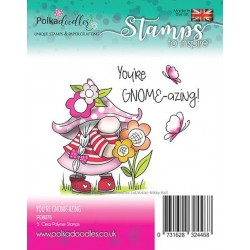 (PD8076)Polkadoodles Gnome-azing Clear Stamps